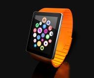 Orologio astuto Mobilità creativa di affari e concetto portabile mobile moderno di tecnologia del dispositivo Colori l'orologio a royalty illustrazione gratis