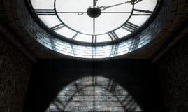 Orologio Backlit antico Immagine Stock