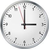 Orologio bianco Immagine Stock