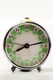 Orologio bianco del briciolo verde vecchio Fotografia Stock