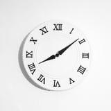 Orologio bianco rotondo Fotografia Stock