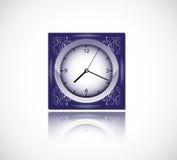 Orologio blu Fotografie Stock
