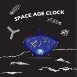 Orologio blu dello spazio Immagine Stock Libera da Diritti