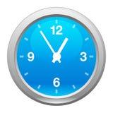 Orologio blu, vettore Fotografia Stock