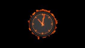 Orologio bruciante illustrazione vettoriale