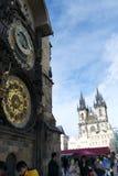 Orologio & calendario astronomici a Praga Fotografia Stock Libera da Diritti
