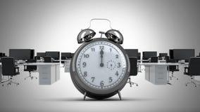 Orologio che ticchetta nell'ufficio illustrazione di stock