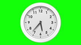 Orologio che ticchetta sul fondo verde video d archivio