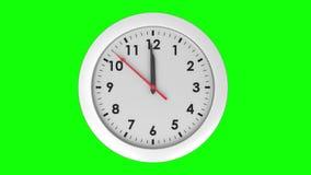 Orologio che ticchetta sul fondo verde stock footage