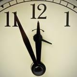 Orologio a cinque minuti a dodici Fotografia Stock Libera da Diritti
