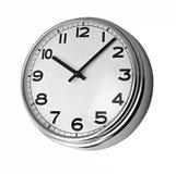 Orologio classico sulla parete fotografia stock