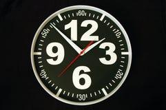 Orologio con i grandi numeri con il percorso di residuo della potatura meccanica Fotografie Stock Libere da Diritti