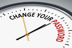 Orologio con il cambiamento del testo la vostra parola d'ordine illustrazione vettoriale