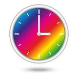Orologio con lo spettro di colori Fotografia Stock