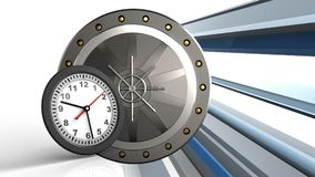 orologio 3D Fotografia Stock Libera da Diritti