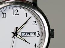 Orologio d'acciaio fotografie stock