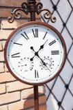 Orologio d'annata all'aperto Fotografia Stock