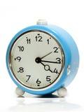 Orologio d'annata blu Fotografia Stock