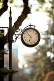 Orologio d'annata classico, stazione ferroviaria Fotografia Stock