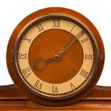 Orologio d'annata con il primo piano di numeri romani Immagine Stock