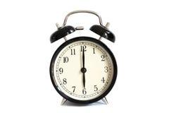 Orologio d'annata del ` di manifestazione 6 o della sveglia Fotografia Stock