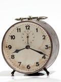 Orologio d'annata metallico Fotografia Stock Libera da Diritti