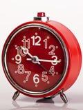 Orologio d'annata rosso Fotografie Stock