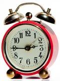 Orologio d'annata rosso Immagine Stock