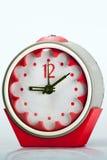 Orologio d'annata rosso Fotografia Stock