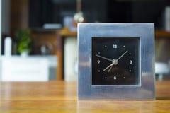 Orologio d'argento Fotografie Stock