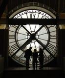 Orologio in d'Orrsey del museo di Parigi Immagine Stock Libera da Diritti