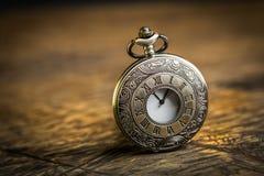 Orologio da tasca antico Fotografia Stock Libera da Diritti