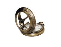 Orologio da tasca con una copertura aperta su un fondo bianco Immagini Stock