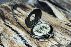 Orologio da tasca d'annata Fotografie Stock