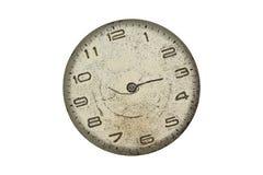 Orologio da tasca d'annata - quadrante isolato soltanto Immagini Stock