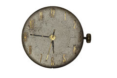 Orologio da tasca d'annata - quadrante soltanto Immagine Stock