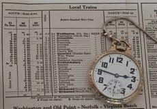 Orologio da tasca della ferrovia Fotografia Stock Libera da Diritti