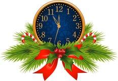 Orologio decorato (notte di San Silvestro) illustrazione vettoriale