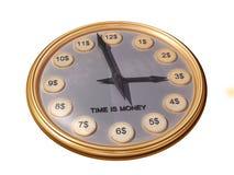 Orologio dei soldi Fotografie Stock