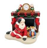Orologio del Babbo Natale Fotografie Stock Libere da Diritti