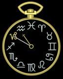 Orologio del Capricorn dello zodiaco Immagini Stock Libere da Diritti