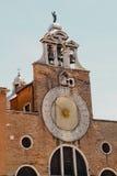 Orologio del Chiesa di San Giacomettodi Rialto Immagini Stock Libere da Diritti