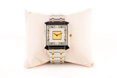 Orologio del diamante dei gioielli Fotografie Stock Libere da Diritti