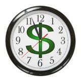 Orologio del dollaro fotografia stock