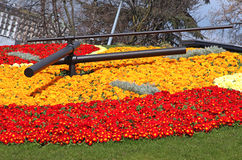 Orologio del fiore a Ginevra Fotografia Stock Libera da Diritti