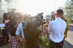 Orologio del fuoco - copertura mediatica fotografie stock libere da diritti