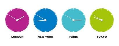 Orologio del mondo immagini stock