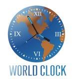 Orologio del mondo royalty illustrazione gratis