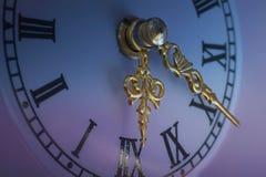 Orologio del nuovo anno - dettaglio Immagine Stock