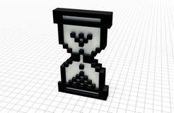 Orologio del pixel royalty illustrazione gratis